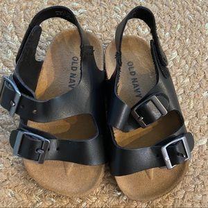 5/$20 Old Navy Black Jack double buckle sandals